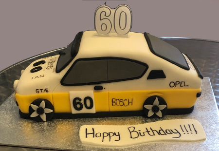 Ian's 60th car cake